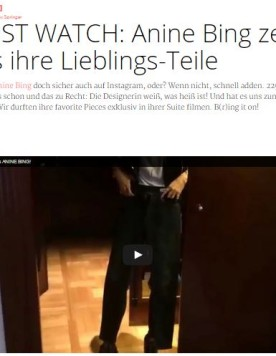 Anine Bing Video Interview for TresClick 1_15