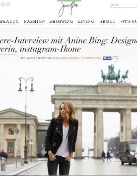 Anine Bing for Journelles Jan.15