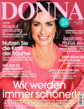 DONNA MAGAZIN | SINGLE PAGE | with ANINE BING, CLEMMIE WATSON & VALLEY EYEWEAR