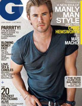 Mr Chris Hemsworth spotted in GQ USA January 2015 issue wearing his  VALLEY EYEWEAR MANUBRIUM frames