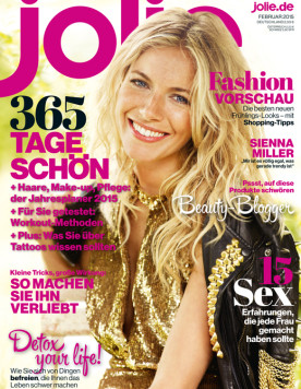 Jolie Magazine Februar 2015 Clemmie Watson Emu Feather Necklace
